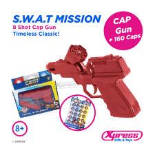 Swat Mission 8 Shot Cap Gun Ring Caps Pistol Toy Kids Child Outdoor Revolver