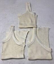 Lot of 3 Vintage1950s White Cotton Carter's Undershirt Tank Size 4
