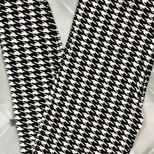 a76ee0c3c3420 NWT Houndstooth Print Leggings Buttery Soft PLUS Size 12-18 TC Black And  White