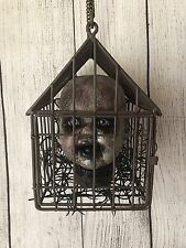 Mourning Spooky Doll Head Creepy Bird Cage Haunted OOAK Reborn Horror Scary Dead