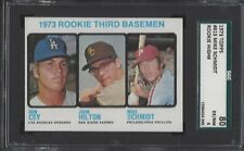 SGC 80 - 1973 Topps #615 Mike Schmidt RC Phillies/Dodgers/Padres HOF w/Ron Cey