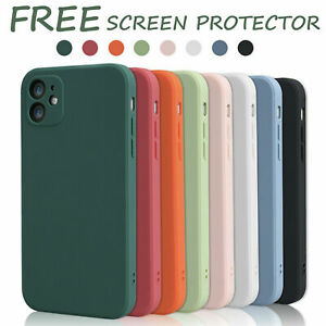 Genuine Original Silicone Case Cover for Apple iPhone 12 Pro Max 11 XR 7 8 Plus