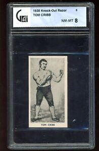 1938 Knock-Out Razor #8 Tom Cribb GA 8