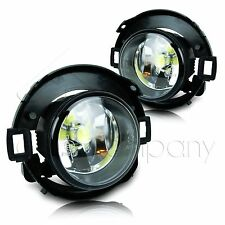 For 10-17 Frontier 05-14 Xterra Fog Lights w/Wiring Kit & COB LED Bulbs - Clear
