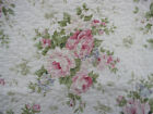 Shabby Cottage Chic Large Pink Cabbage Rose Quilted Throw 100% Cotton 50x60