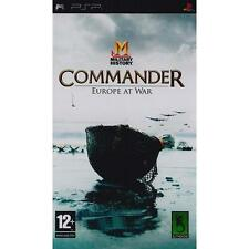 Military History Commander Europe at War de Slitherine Sony PSP usado completo