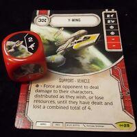 General Rieekan x2 Rare #24 Star Wars Destiny Empire At War Card+Die