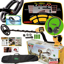 "Garrett Ace 250 Metal Detector WaterProof Coil, Headphones, 50"" Travel Bag"