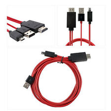 MHL 11 Pin Micro USB to HDTV HDMI Adapter for Samsung Galaxy S5 S4 S3 Note 3 2 4