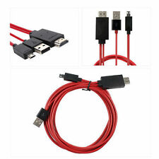 MHL 11 Pin Micro USB to HDTV HDMI Adapter for Samsung Galaxy S4 S5 S3 Note 3 2