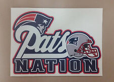 New England Patriots Pats Nation Vehicle window bumper decal 6x4