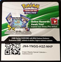 Pokemon Dragon Majesty Special Collection Salamence GX Online Code Card - FAST!