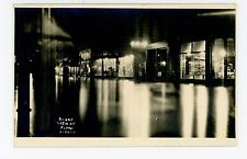 Night Flood RPPC Beautiful Photo 3/26/1911 Hennings Candy—Harleysville PA? YMCA