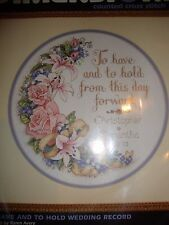 Dimensions Counted Cross Stitch Kit TO HAVE AND TO HOLD WEDDING RECORD 12""