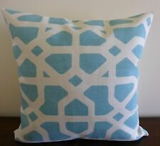 Crossroads aqua and cream linen look cushion cover 45 x 45