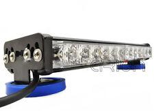 72W LED Amber Roof Light Bar Construction Car Warning Strobe Flash Hazard Magnet