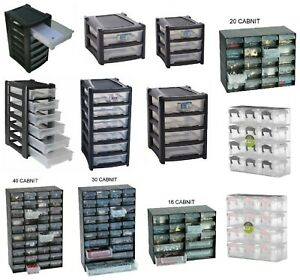 MULTI DRAWER STORAGE CABINET HOME GARAGE NAIL SCREW CRAFT BITS ORGANIZER UNIT