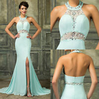 Sexy Long Formal Wedding Gown Ball Evening Cocktail Party Prom Bridesmaid Dress