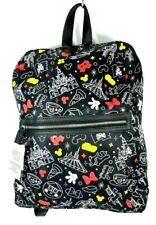 Disney Parks Mickey & Minnie Body Parts & Ride Attractions Backpack Book bag