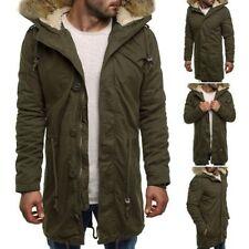 Cappotti e giacche da uomo verde Parka con cappuccio