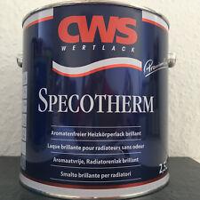 € 8,60 L/2,5L Heizkörperlack,aromatenfrei,CWS Specotherm,weiß,glänzend,bis 120°