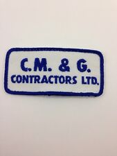 """C.M. & G. Contractors Sew-On Patch 4"""" Sewing"""