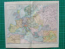 Antique map Europe Protestant Reformation / landkaart Europa Reformatie 1897