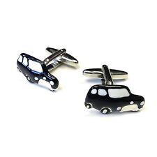 "JustforMoo ""Cars"" Pair of Black Mini Car Cufflinks (219)"