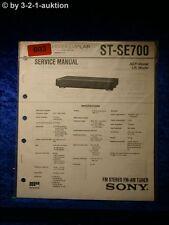 Sony Service Manual ST SE700 Tuner (#0603)