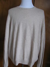 Bloomingdales men's oatmeal cashmere crewneck sweater XXL NWT