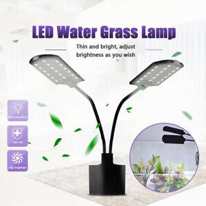 15W LED Waterproof Aquarium Light Fish Tank Aquatic Plants Grow Clip Lamp 2021