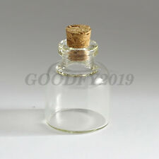 2PCS 22*28mm Clear Mini Small Cork Bottles Stopper Glass Vial Jars Containers