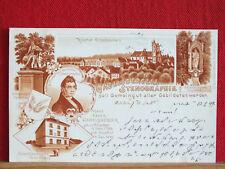 Litho-AK - Ottobeuren - Gabelsbergers Stenographie  gel 1899 - LK Unterallgäu  m