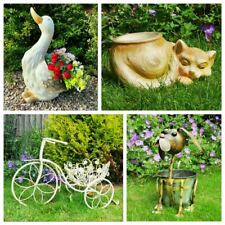 Sheep Cat Dog Goose Bike Plant Pot Ornament Garden Tool Flower Décor Rustic Home