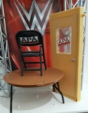 WWE MATTEL SERIES ACCESSORIES DOOR CHAIR BREAKABLE TABLE ELITE BATTLE PACK APA