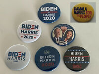 "NEW! Biden/Harris 2020 Set of 7 Pins - Joe Biden & Kamala Harris (2.25"" Buttons)"