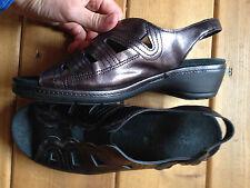 Spring Step 40 US 9.5 Patent metallic  Leather Women's Sandal