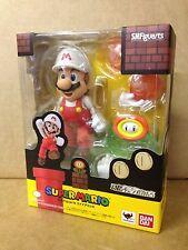 SUPER MARIO BROS Fire Mario S.H. Figuarts Bandai TAMASHII web exclusive Figura