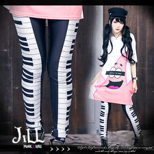 lolita princess diary Music march Piano keyboard 3D print leggings【J1M2039】