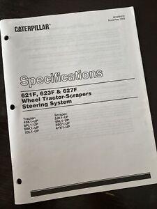 Caterpillar 621F 623F Scraper Steering Specification Service Manual 4SK 6BK 1DL