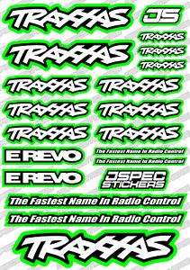 TRAXXAS RC DRAG SLASH STICKER SET EMAXX TMAXX REVO DECALS JSPEC RADIO CONTROL