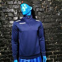 Kappa Training Jersey Long Sleeve Navy Blue Polyester Mens Size M