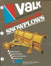 Equipment Brochure Ad - Valk - Snow Plows - c1970's - 2 items (E4808)