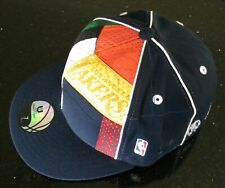 New UNK NBA Multi Team Rainbow Colours Basketball Fitted Cap - Size 7 1/8 - Navy