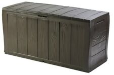 Keter Plastic Box Storage Sherwood Garden Wood Effect FREE 2-DAY DELIVERY New