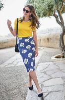 Boden Rock - Martha Floral Pencil Skirt - Bleistiftrock  NEU - UK 14 L EU 42