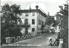 Strevi - Ponte sul Rio Crosio e salita al Castello - viaggiata  1961