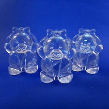 1/2/5/10-Cute Bear Shaped Plastic Lip Balm Lip Color Container Packaging