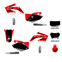 Honda CRF250x 2004-2016 rear fender decal White//Red//Blue FREE SHIPPING!!!