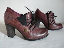 Stivali Stivaletti ATRAI Pelle Rosa Sfumato Tacchi Lacci scarpe T 36